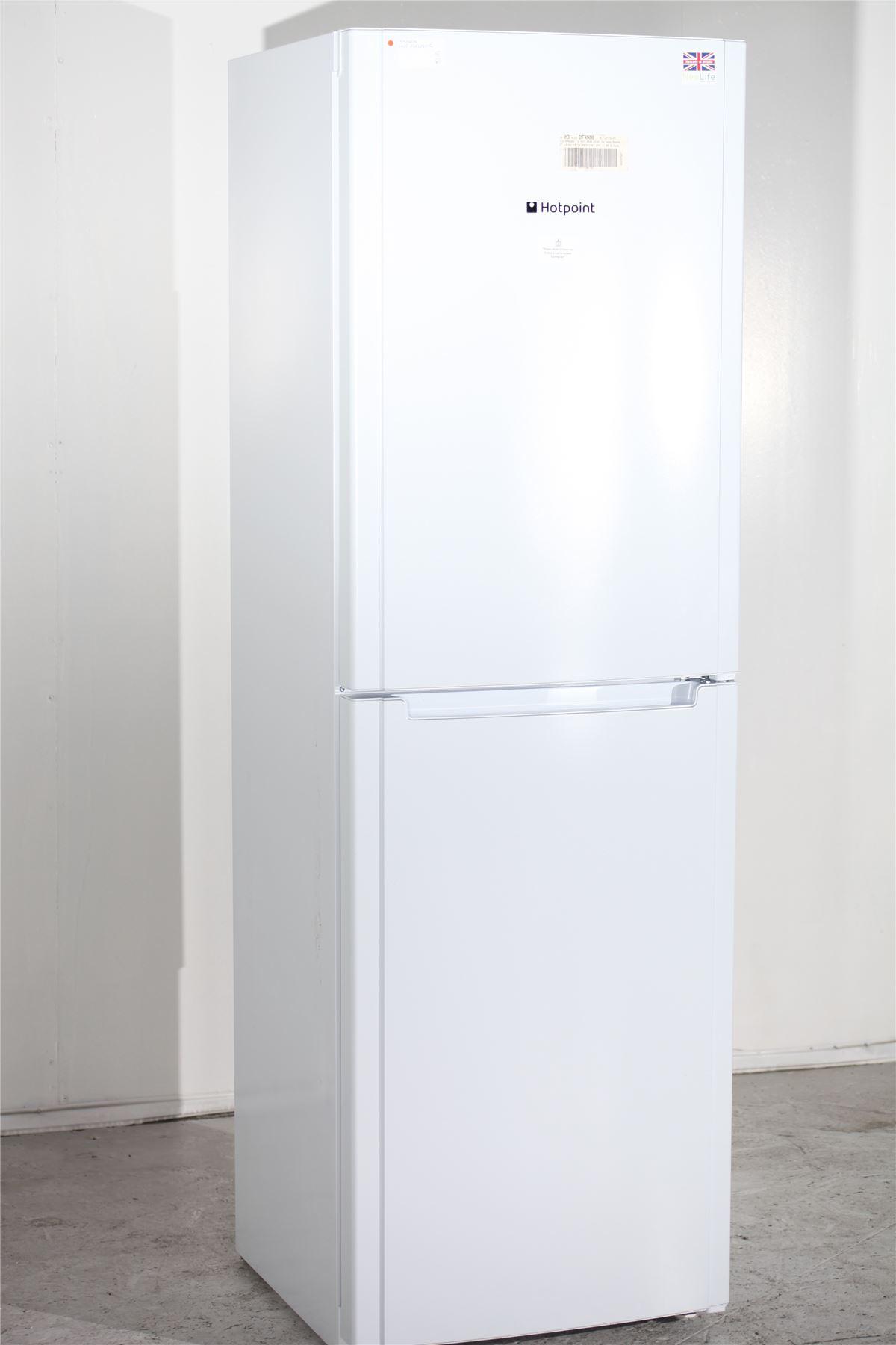 preloved hotpoint fridge freezer fsfl1810g white for. Black Bedroom Furniture Sets. Home Design Ideas