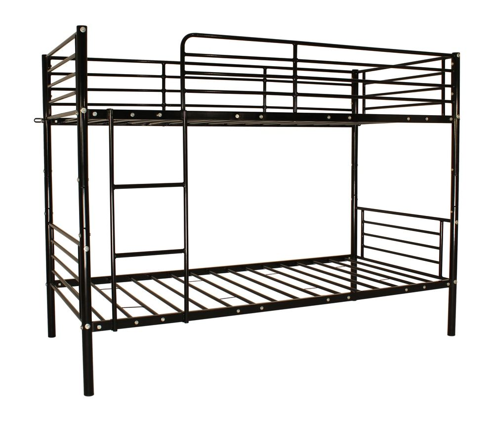 New single twin bunk bed metal frame sleeper bedroom for Single bunk bed frame