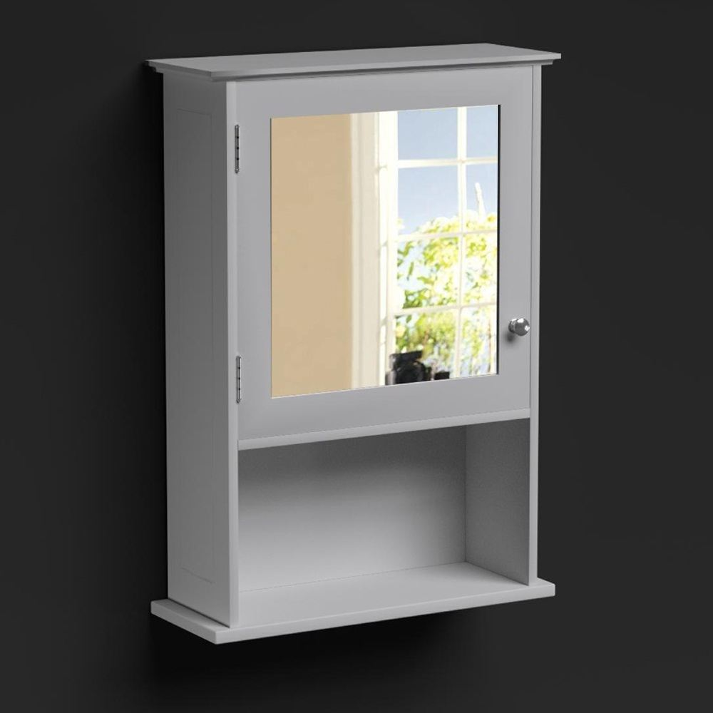 Free standing wall white bathroom storage cabinet unit shelf shelving ebay for Freestanding bathroom shelves