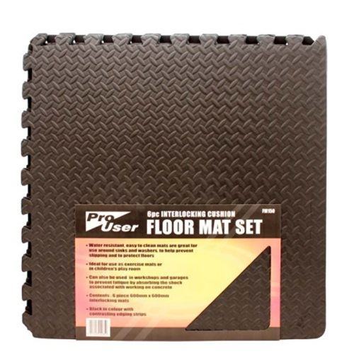 Interlocking black eva foam gym mats tiles garage