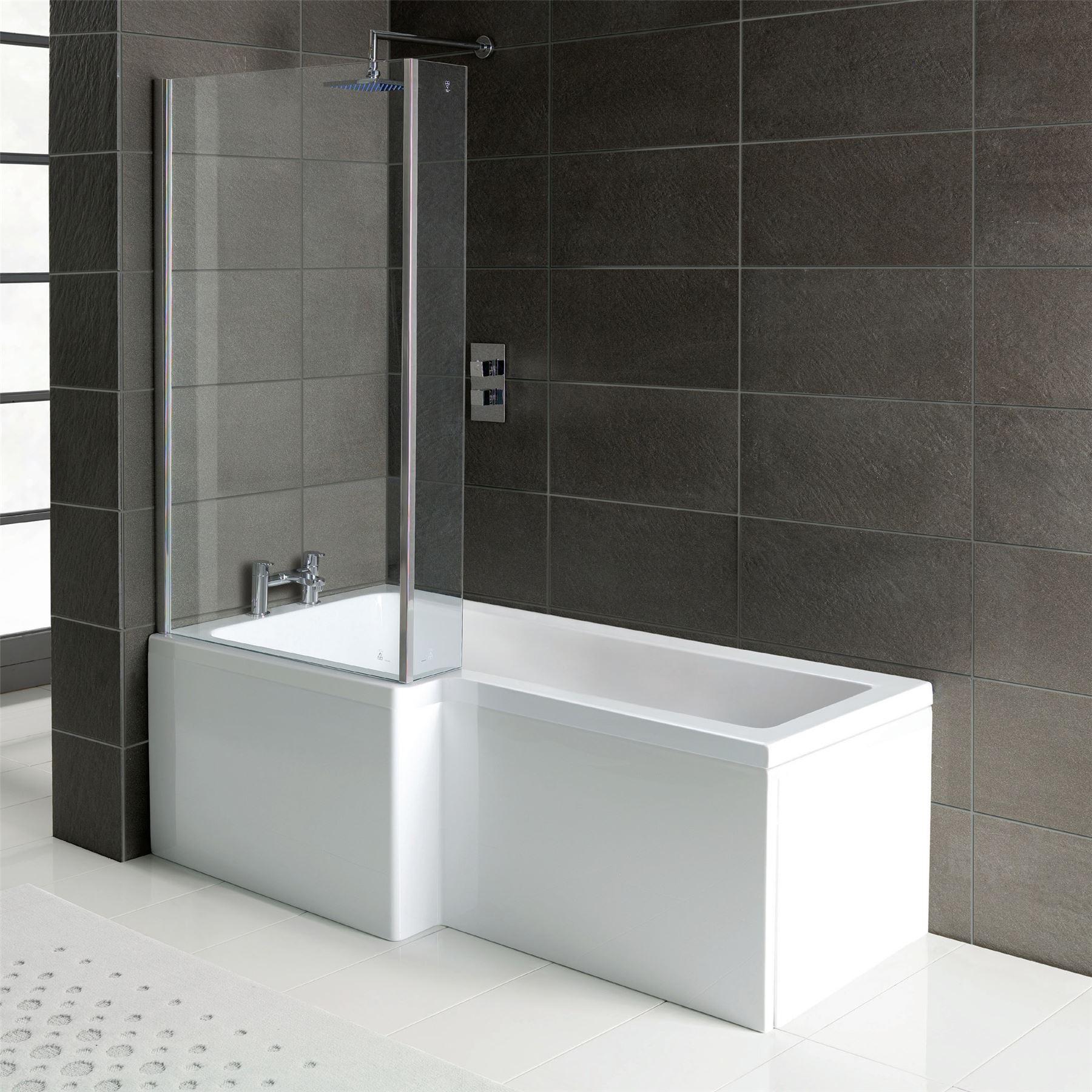 Bathroom Suites Ebay Bathrooms Suite L Shape Bath Shower Square Toilet Amp 600mm