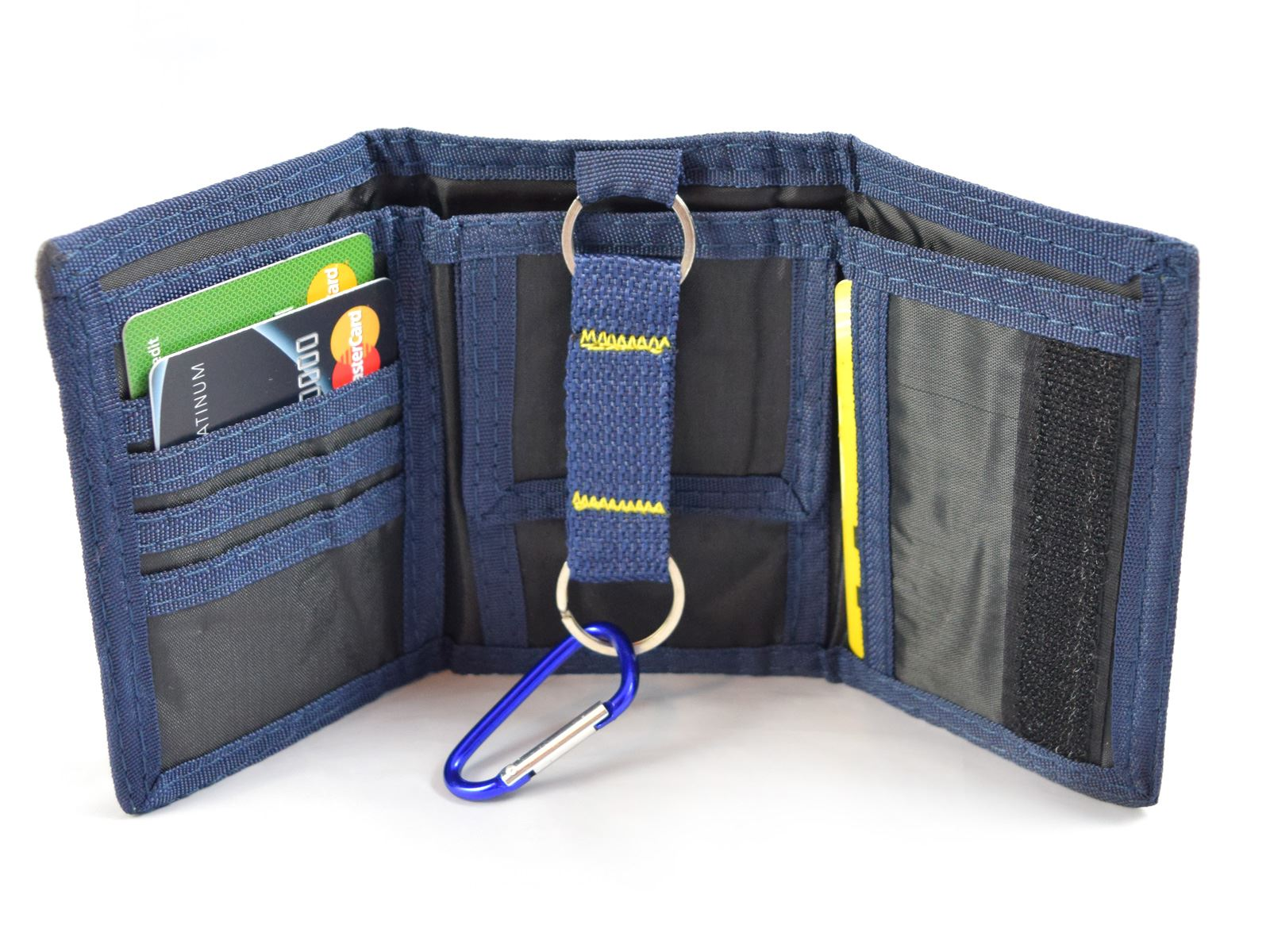 New Mens Boys Trifold Sport Wallet Purse With Zip And Belt ...