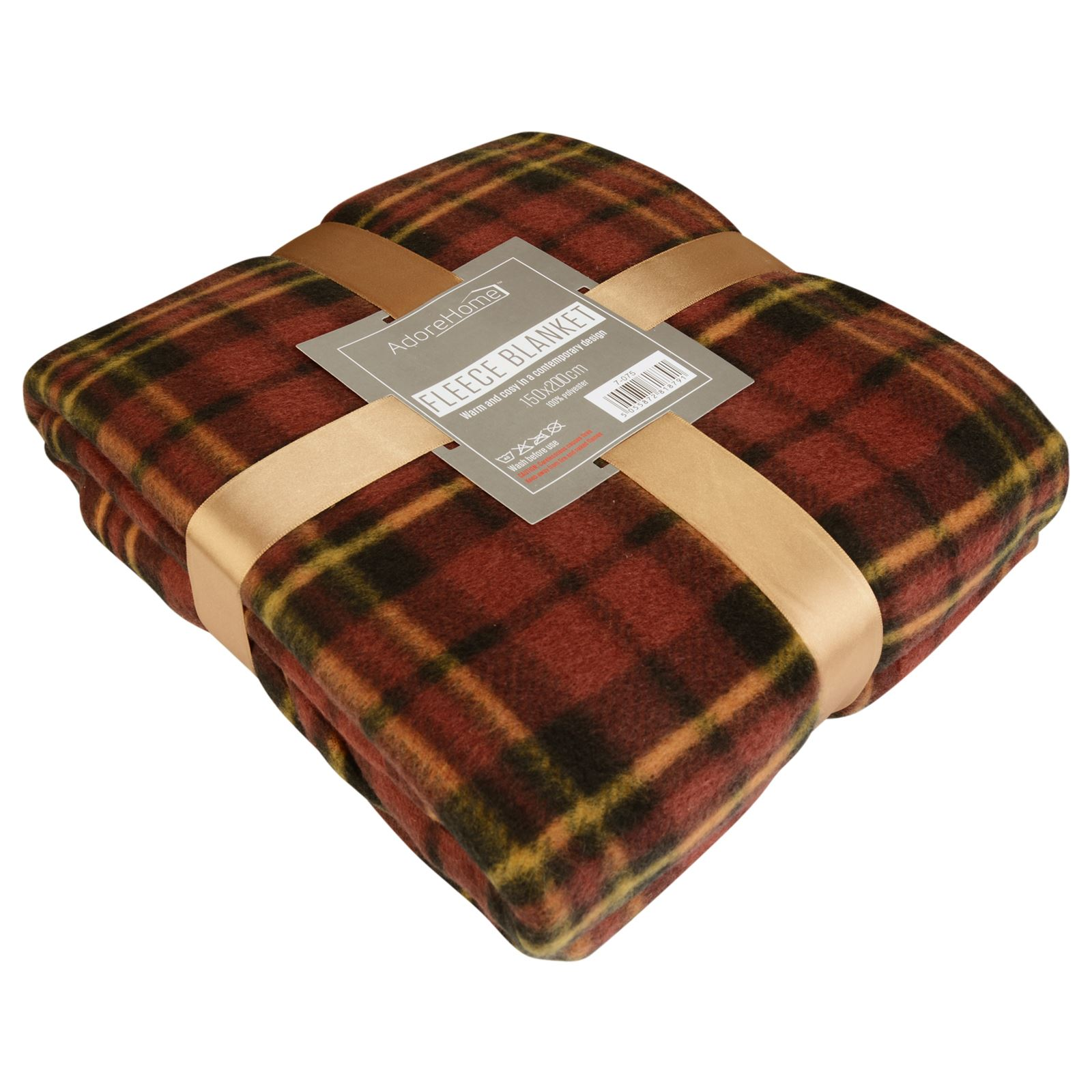 Soft warm single double tartan check sofa throw bed fleece travel car blanket Throw blankets for sofa