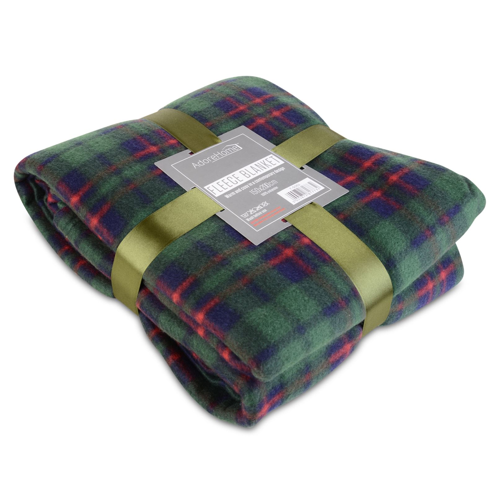 Soft warm single double tartan check sofa throw bed fleece for Soft blankets and throws