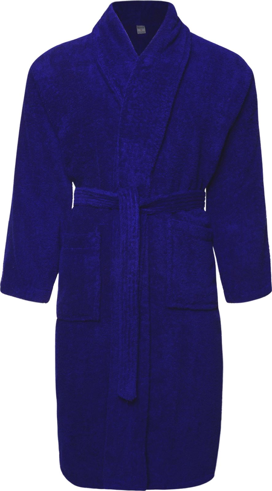 mens ladies royal blue 100 cotton terry towelling bathrobe dressing gown robe. Black Bedroom Furniture Sets. Home Design Ideas