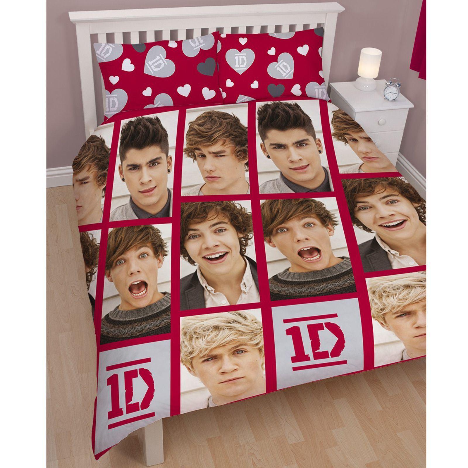 official one direction 39 boyfriend 39 single or double duvet cover set 1d bedding ebay. Black Bedroom Furniture Sets. Home Design Ideas
