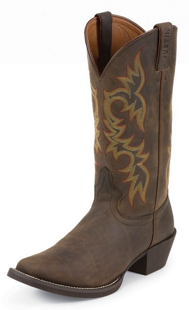 Justin 2552 Stampede Mens Sorrel Apache Leather 13
