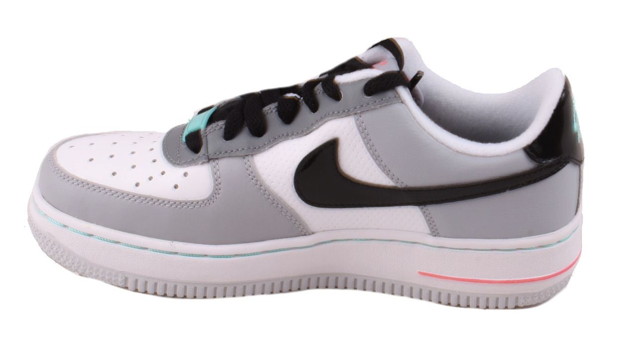 Gray And White Low Top Athletic Shoes