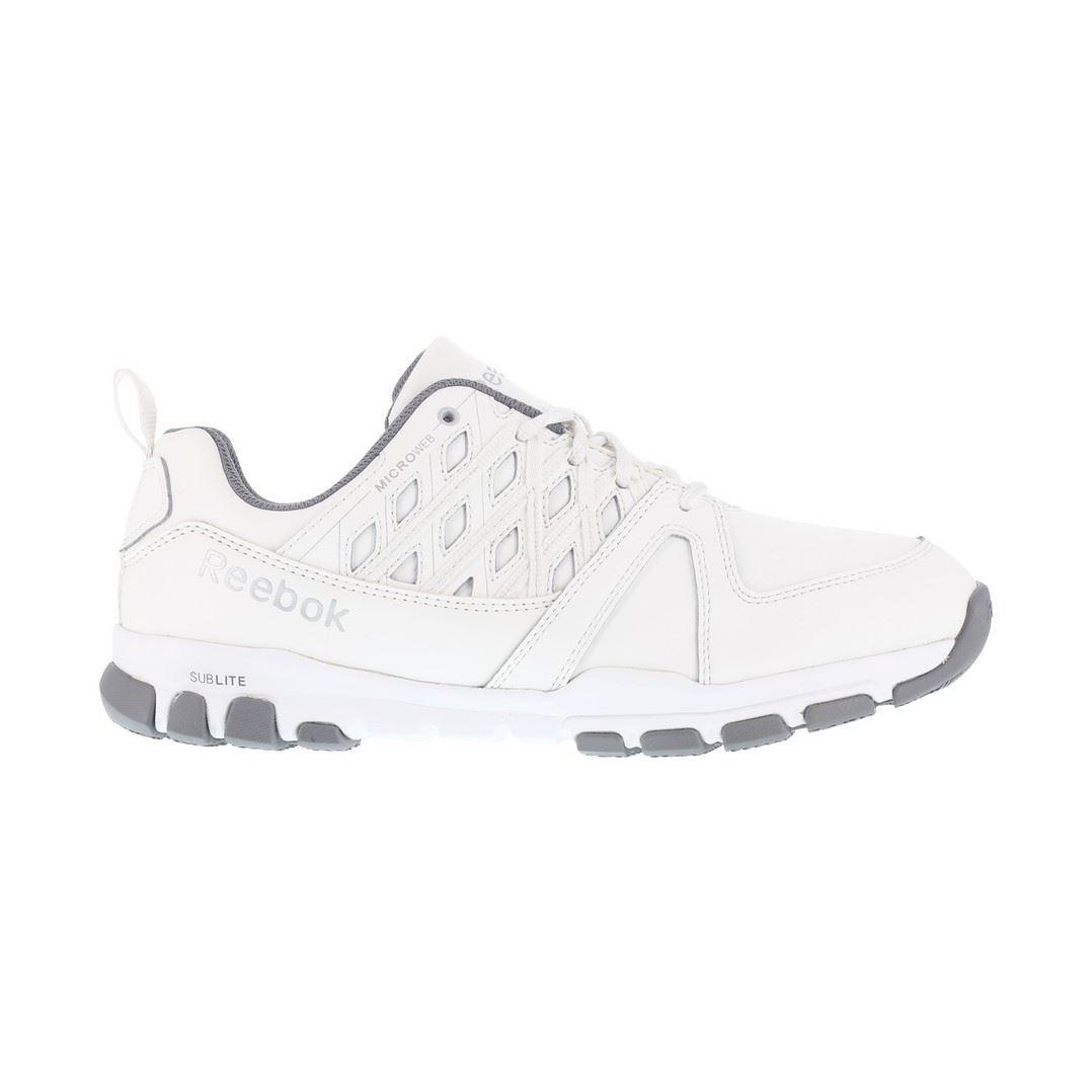 Reebok White Steel Toe Athletic Shoes