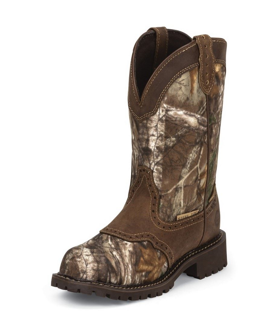 justin work wkl9001 realtree camo womens 11 quot steel