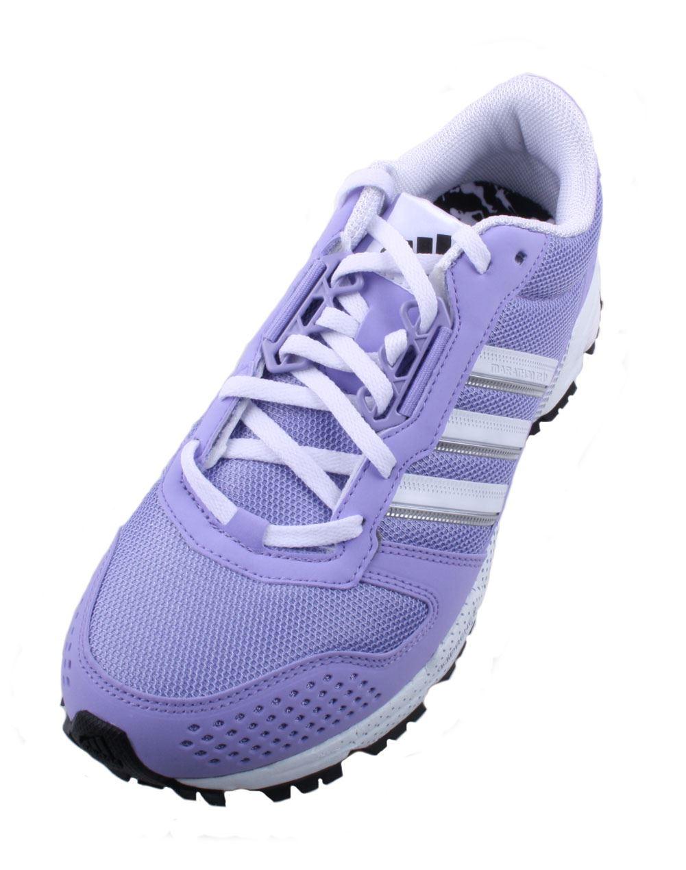 adidas marathon 10 tr womens purple white black athletic