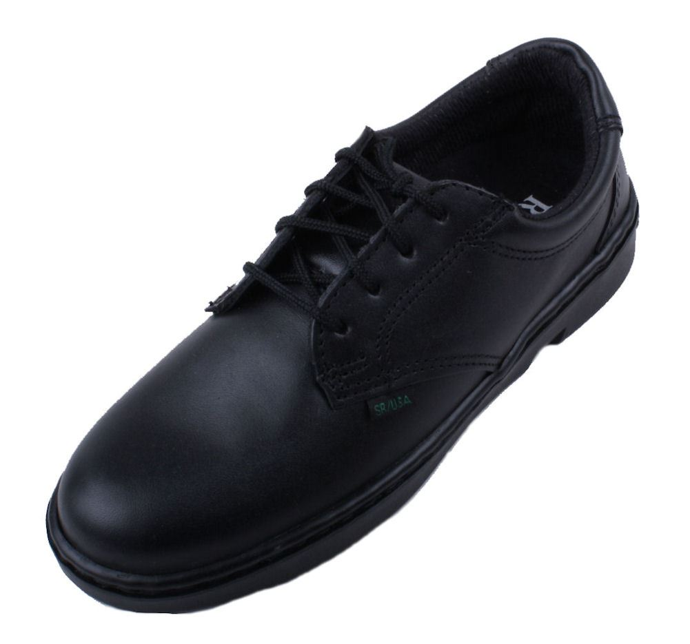 rocky oxford womens black leather plain toe oxford shoes