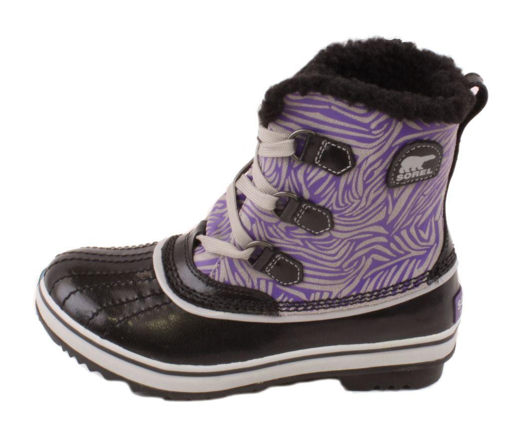 Sorel Tivoli Youth Girls Black/Royal Purple High Top