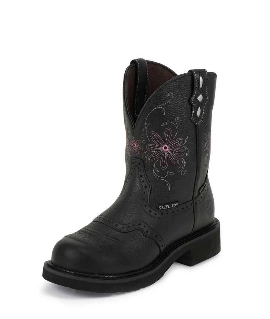 Amazing Safety Girl Steel Toe Waterproof Womenu0026#39;s Work Boots - Black | EBay