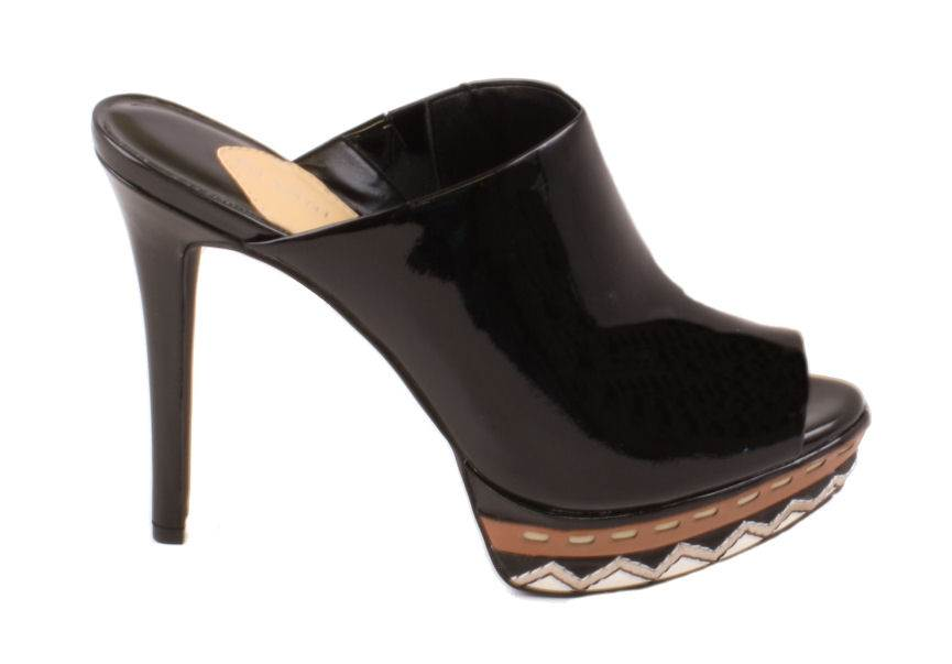 Gianni Bini Kimmie Womens Black Patent Leather Slip On