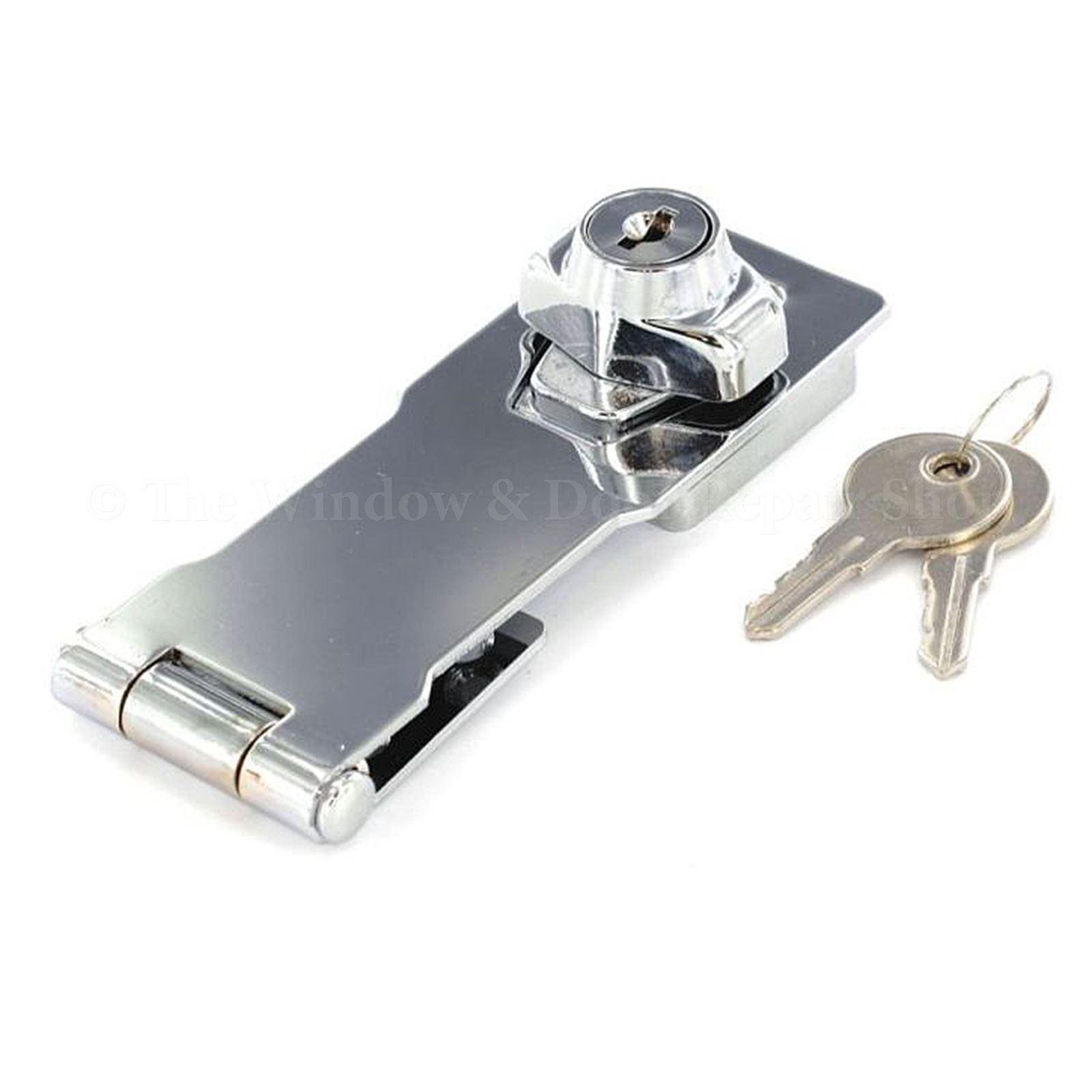 Garage Shed Gate Door Hasp Lock Staple Security Key