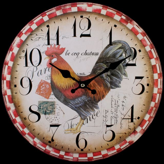 Large Vintage Rustic Wall Clocks Shabby Chic Kitchen Home