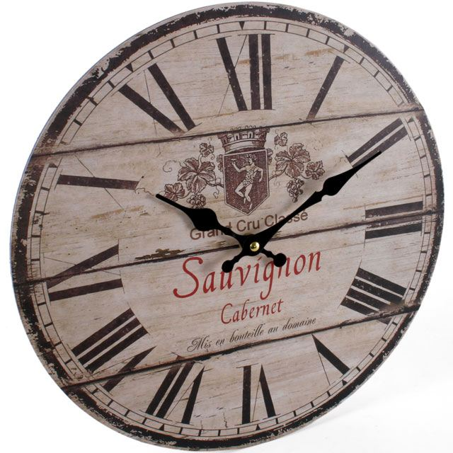 Vintage Rustic Wall Clocks Shabby Chic Kitchen Home French Farmhouse Be