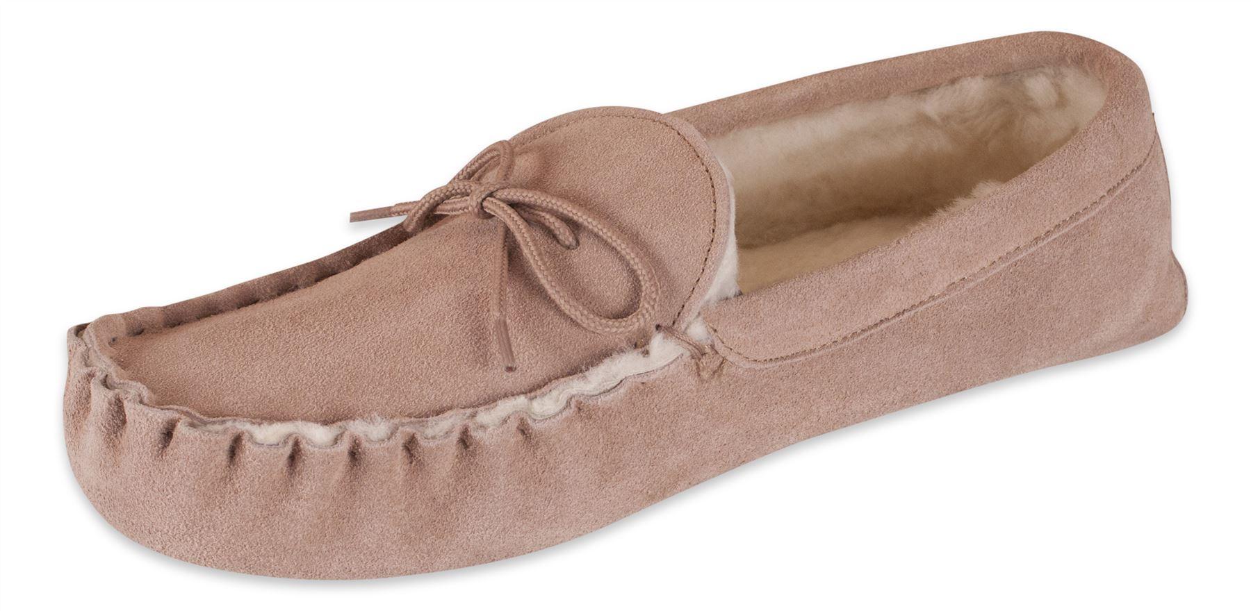 Zapatillas mocasín mujer 100% piel oveja ante super. suela suave 429-100 Nordvek