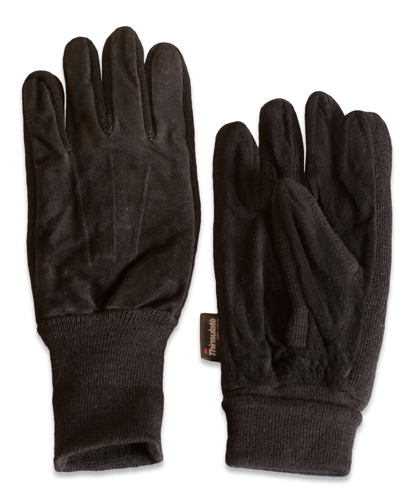 Womens black leather gloves medium -  Picture 3 Of 16