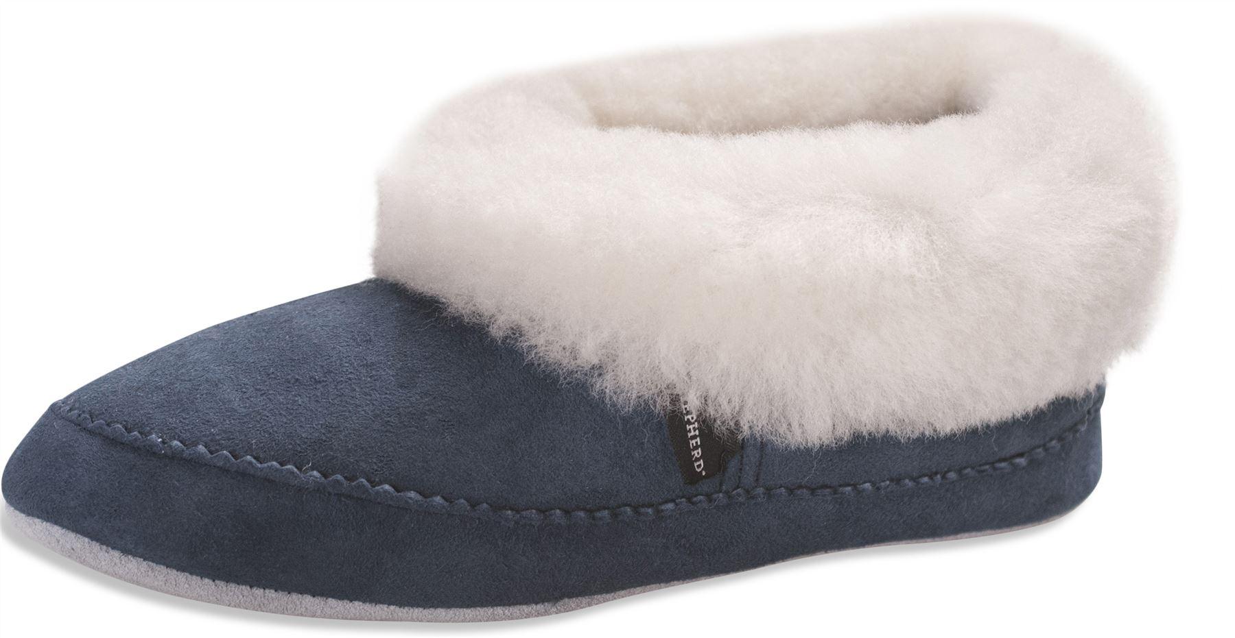 Shepherd Ladies Genuine Sheepskin Slippers Soft Sole Real Womens EMMY 924