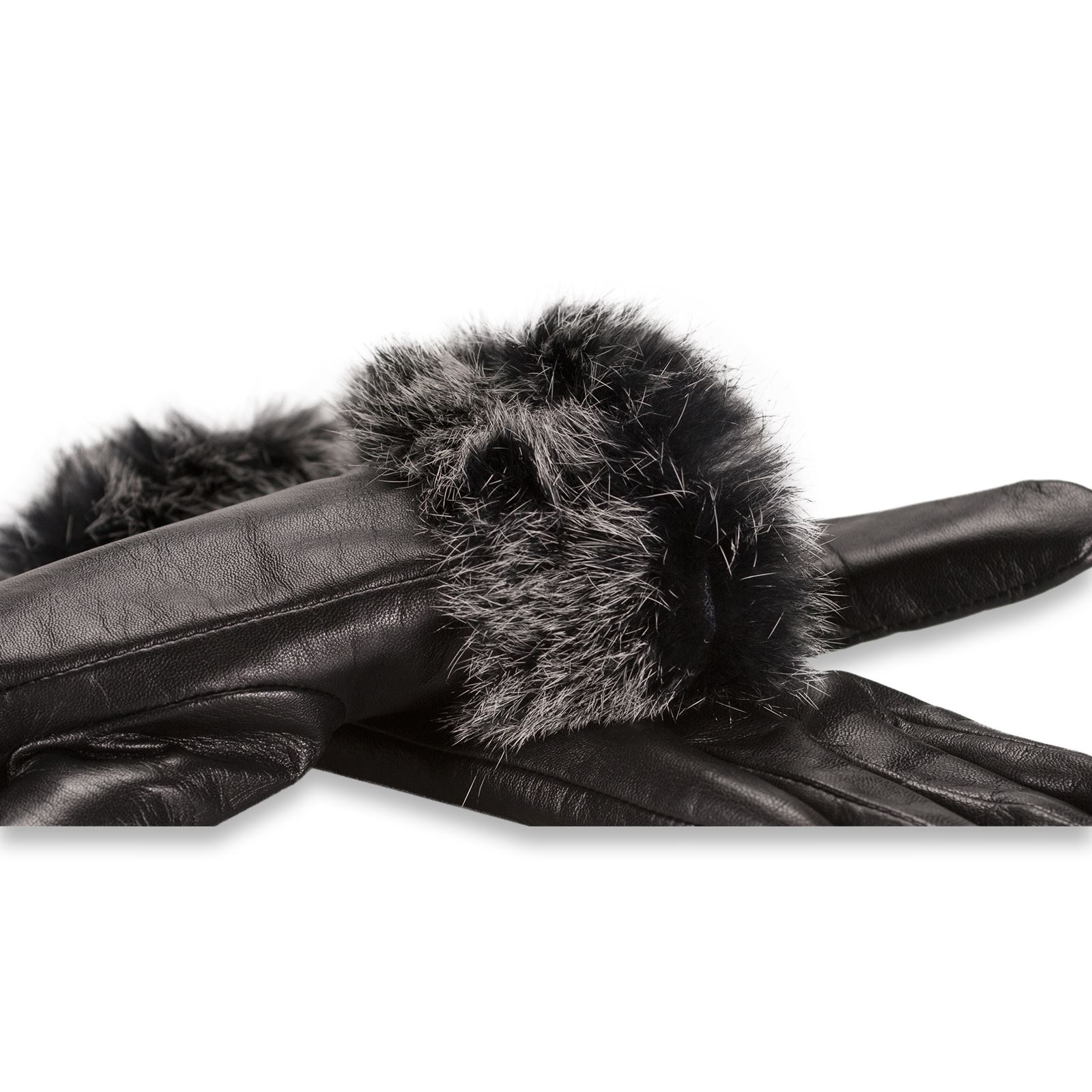 Ladies leather gloves wool lined - Quivano Black Label Premium Womens Leather Gloves Wool
