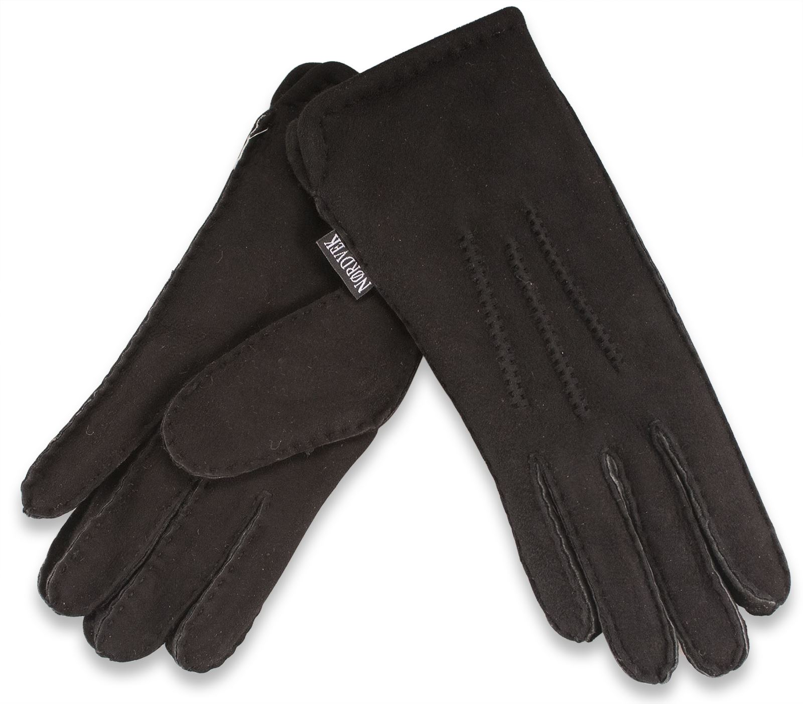 Mens sheepskin gloves uk - Nordvek Mens Premium Thick 100 Genuine Sheepskin Gloves