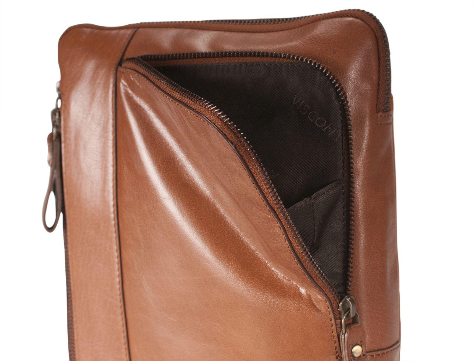 Visconti Mens Real Buffalo Leather Messenger Shoulder Bag Fits Tablets ROY ML20