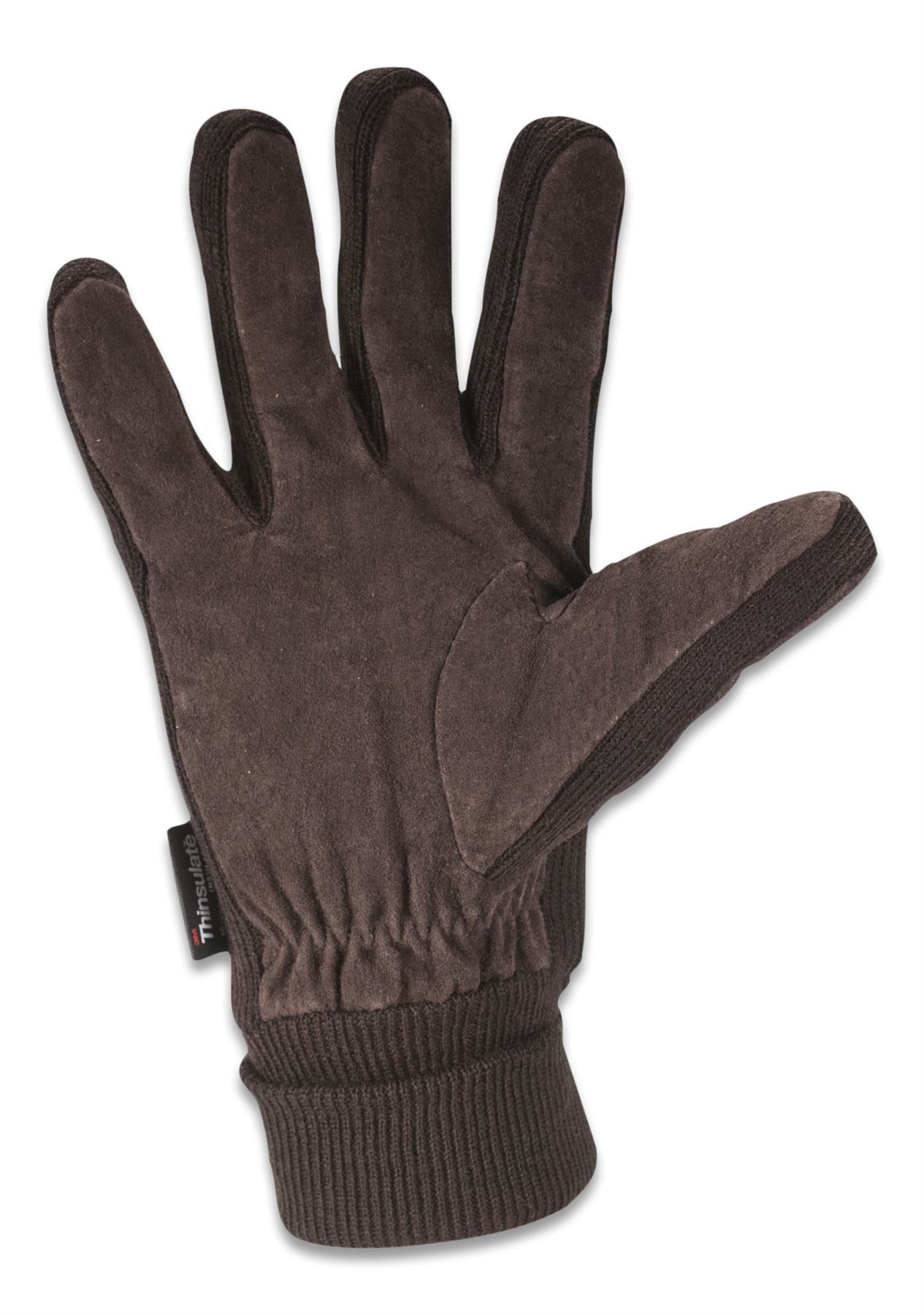 Mens leather gloves thinsulate - Quivano Mens Suede Leather Gloves Thinsulate Lined Elasticated