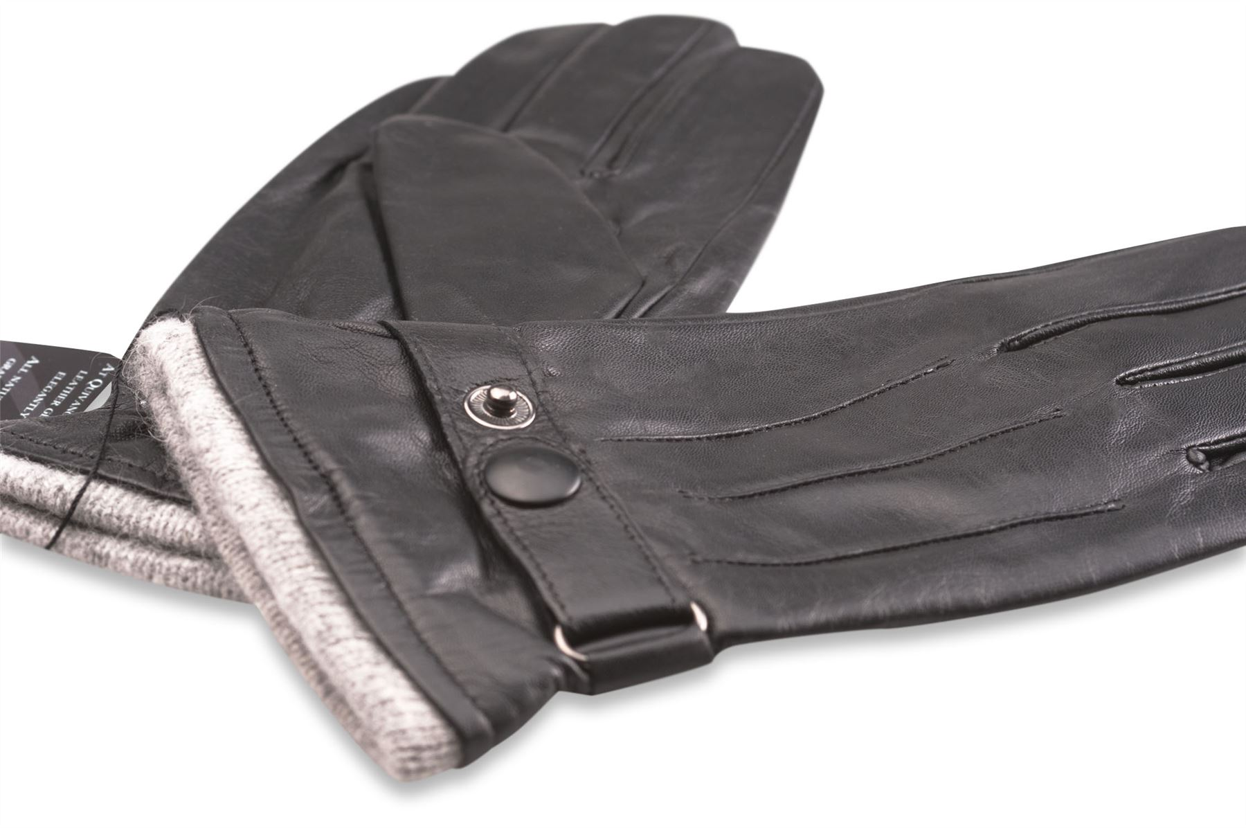 Mens leather gloves grey - Quivano Mens Soft Real Leather Gloves Fleece Lined
