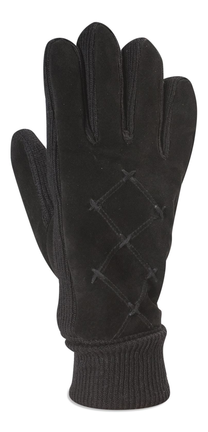 Ladies leather gloves with thinsulate - Quivano Ladies Real Suede Leather Gloves Thinsulate Lined