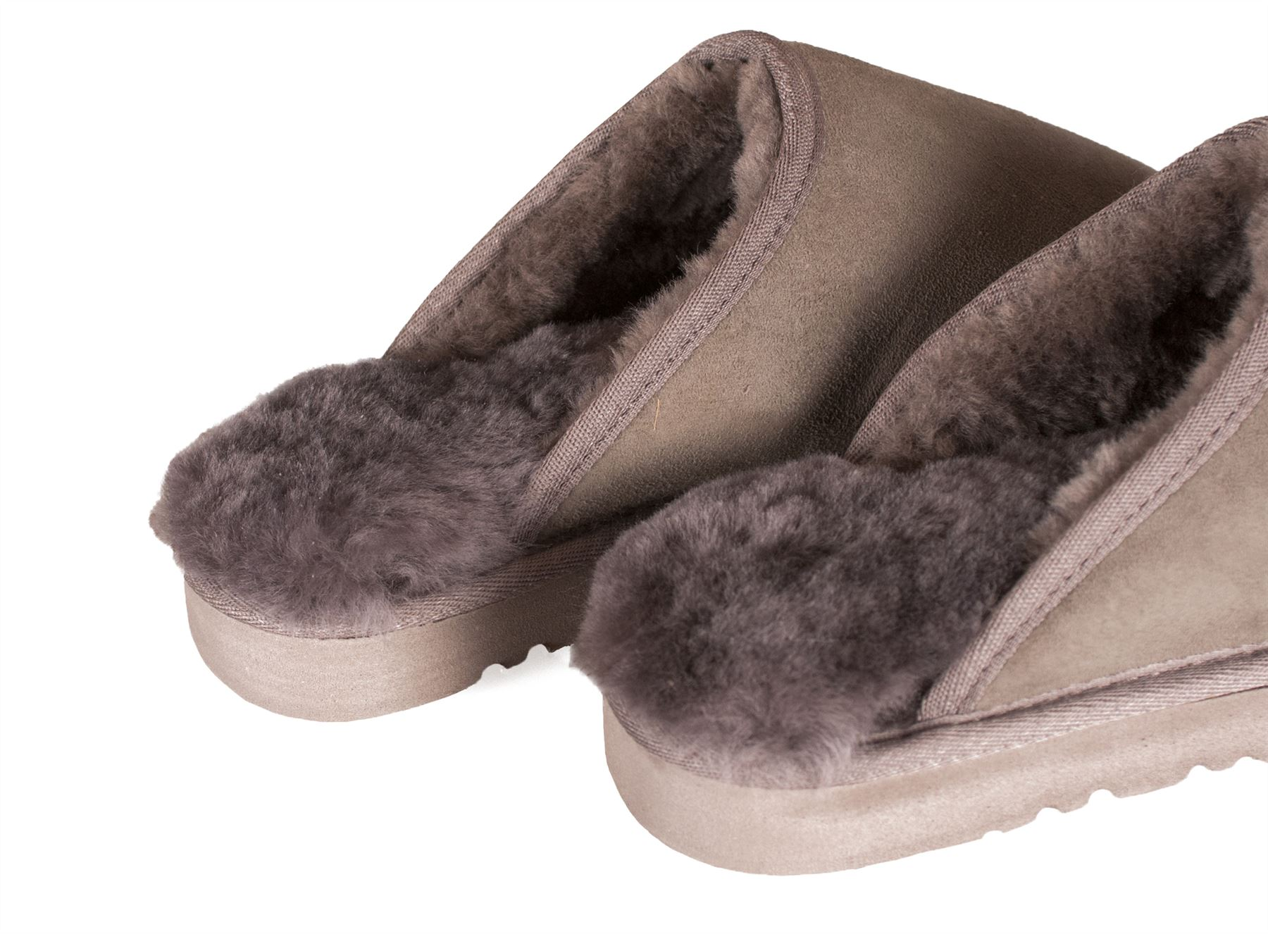 Nordvek Ladies Genuine Sheepskin Slippers Mules Non Slip