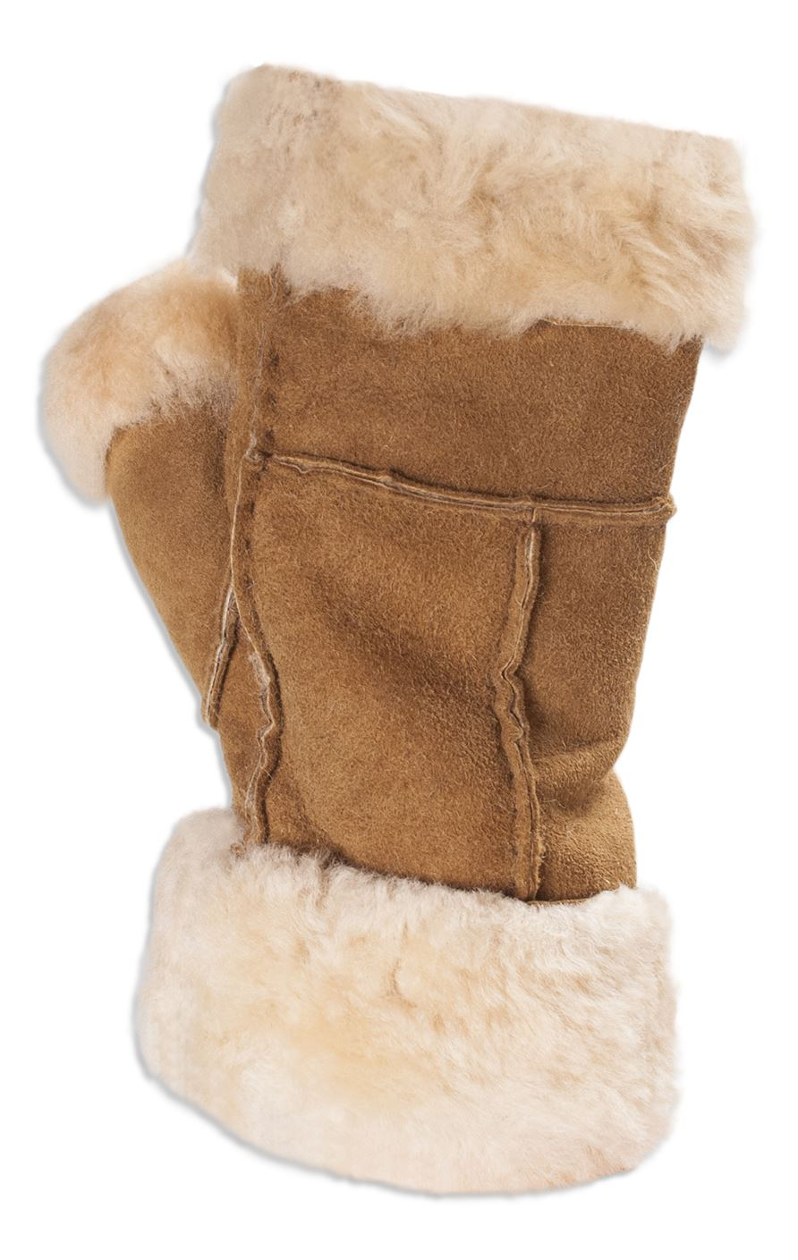 Fingerless gloves canada - Nordvek Womens Genuine Sheepskin Fingerless Gloves Mittens Ladies
