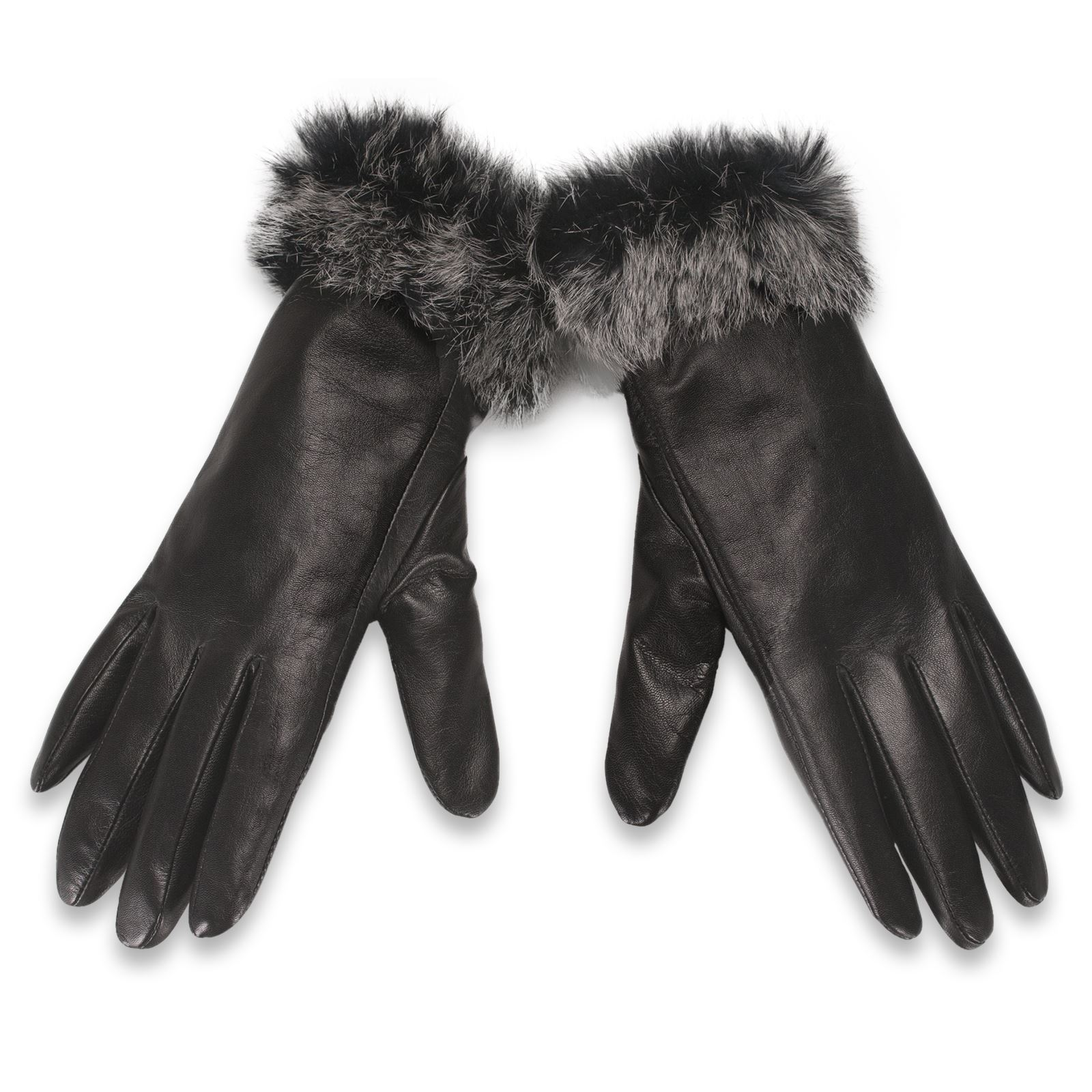 Ladies leather gloves wool lined - Beautiful Ladies Soft Leather Gloves From Quivano S Premium Black Label Range
