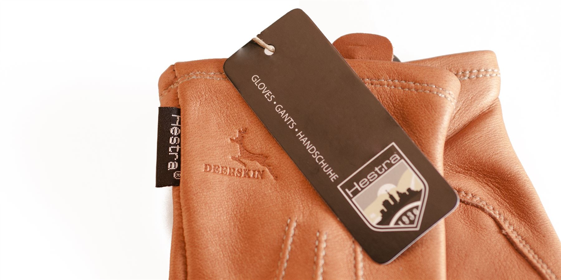 Ladies leather gloves with silk lining - Hestra Premium Ladies Deerskin Leather Gloves Silk Lined