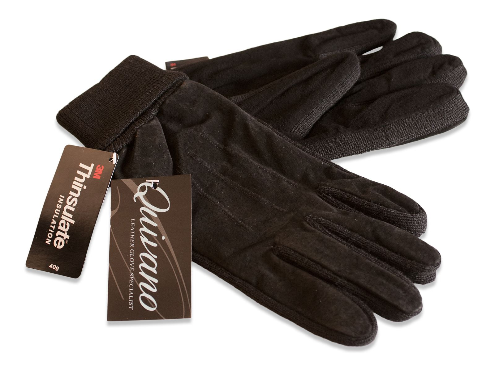 Womens leather gloves thinsulate lining - Picture 2 Of 16