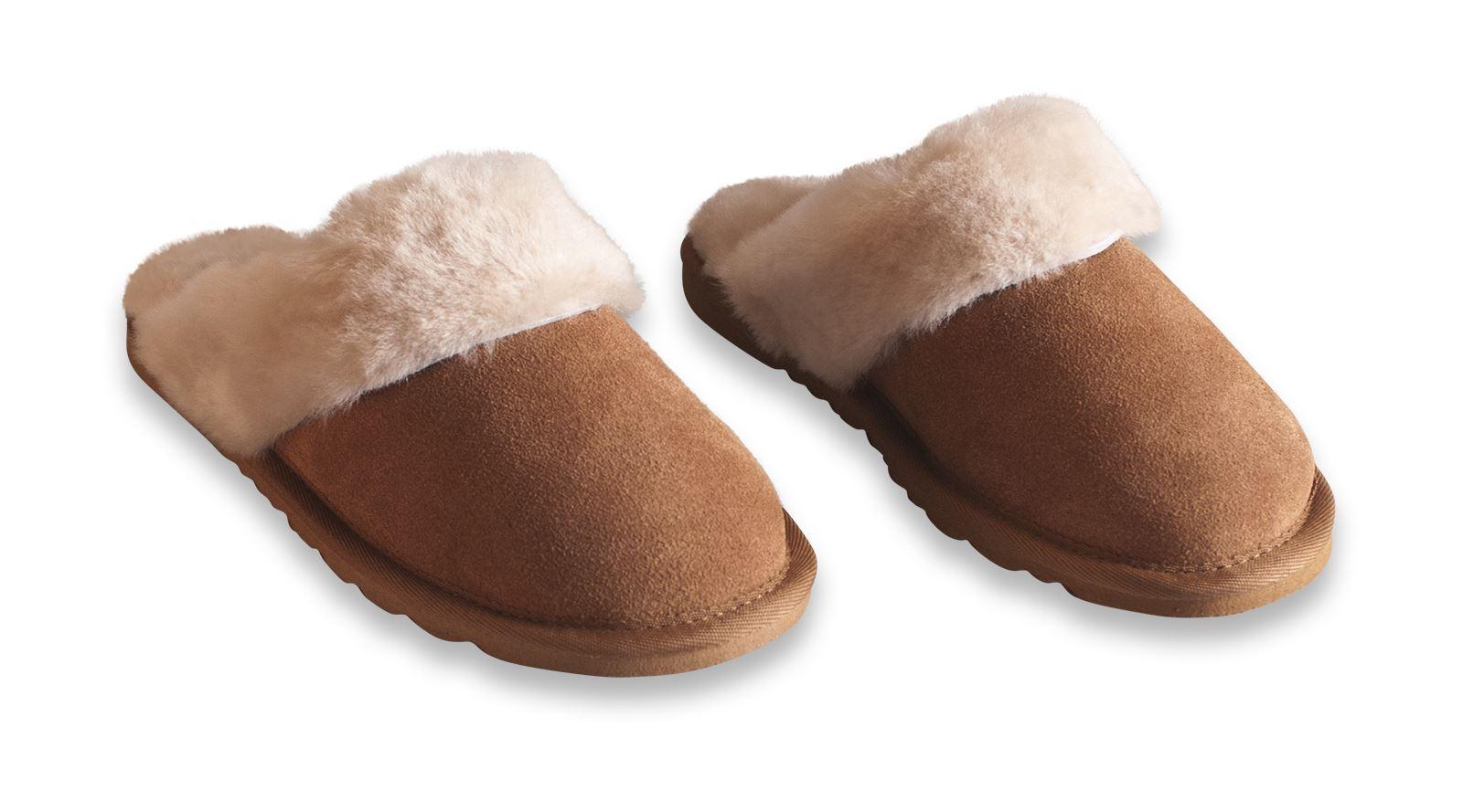 nordvek ladies genuine sheepskin slippers mules non slip hard sole womens ebay. Black Bedroom Furniture Sets. Home Design Ideas