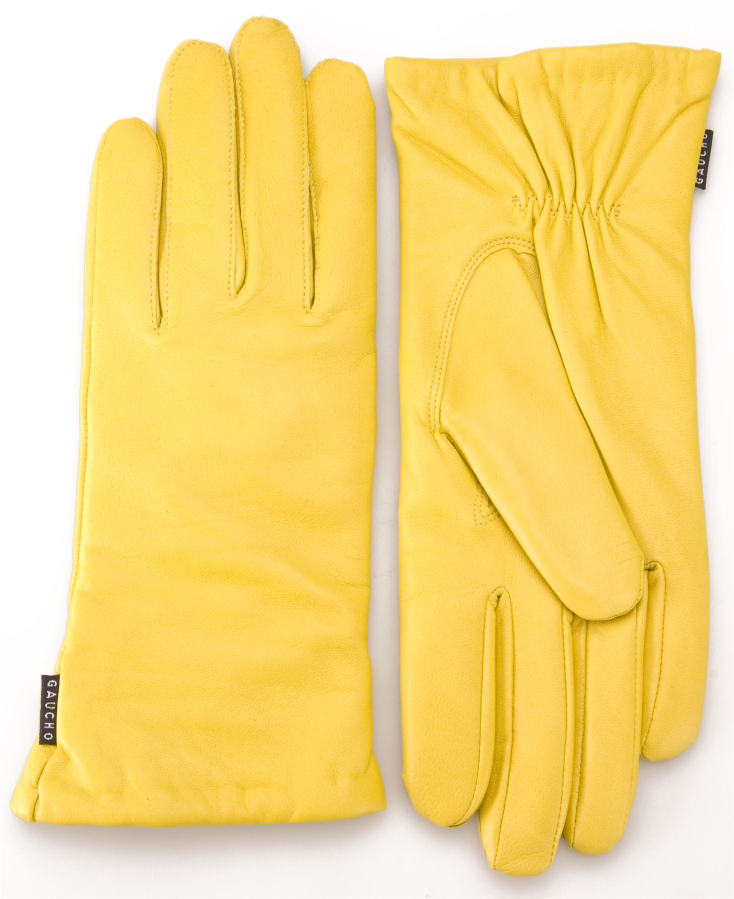 Ladies leather gloves yellow - Gaucho Premium Womens Wool Lined Genuine Soft Leather