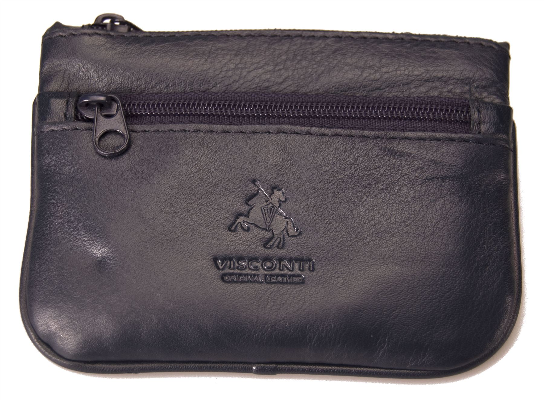 Visconti-Small-Genuine-Soft-Leather-Coin-Key-Card-Purse-Pocket-New-NWT-CP3