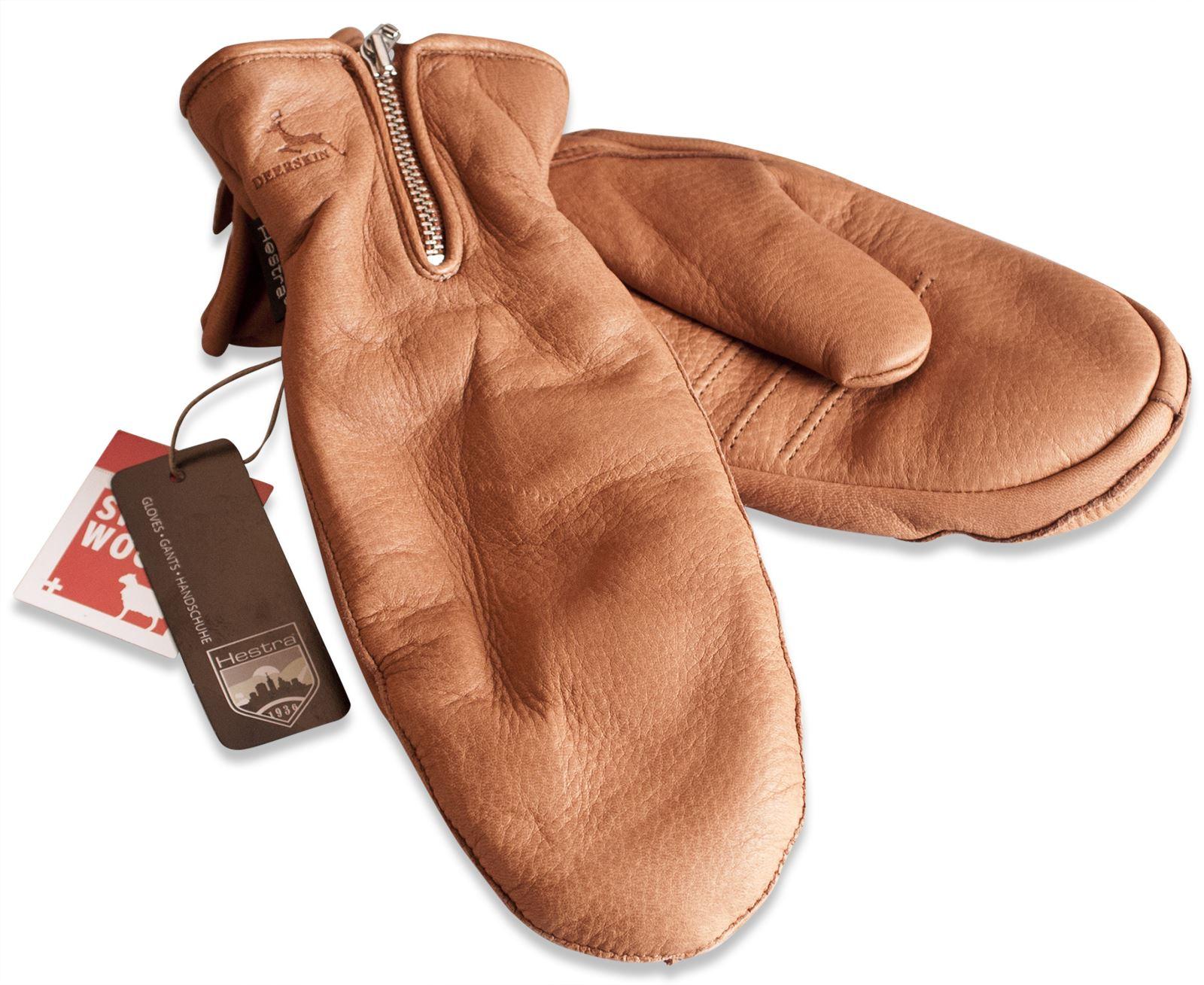Ladies leather gloves wool lined - Hestra Ladies Deer Skin Leather Mittens Gloves Merino