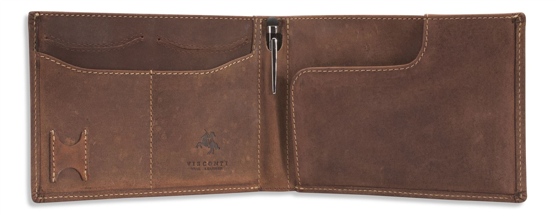 Visconti Mens Real Leather Travel Rfid Wallet Passport