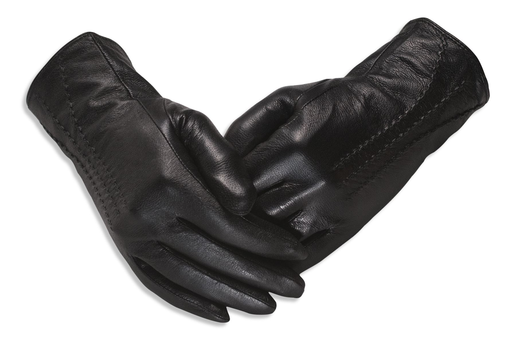 Ladies coloured leather gloves - Quivano Ladies Soft Real Leather Gloves Three Line
