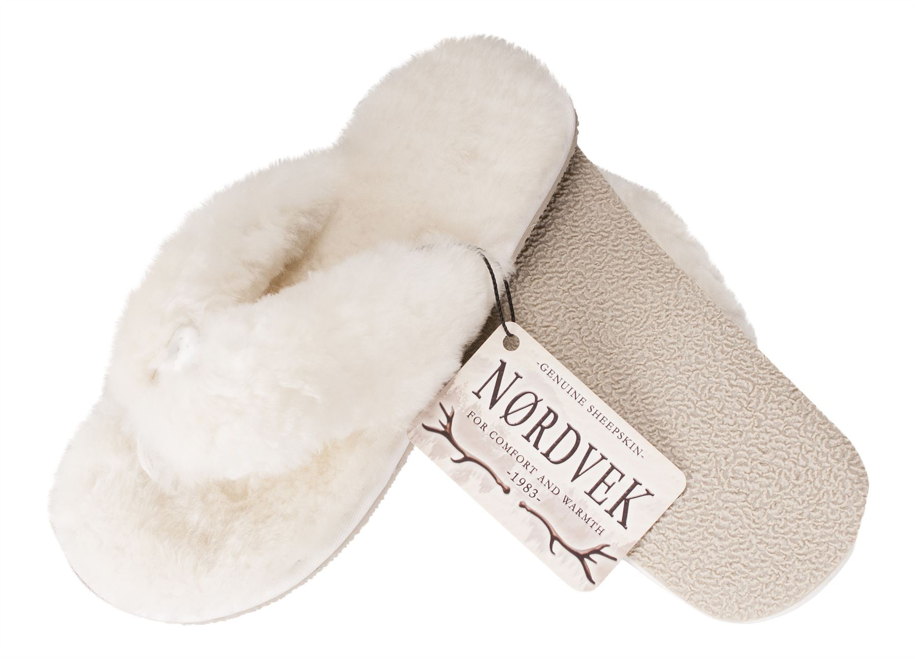 Nordvek Ladies Genuine Sheepskin Flip Flop Slippers Thongs Real Womens 411 10