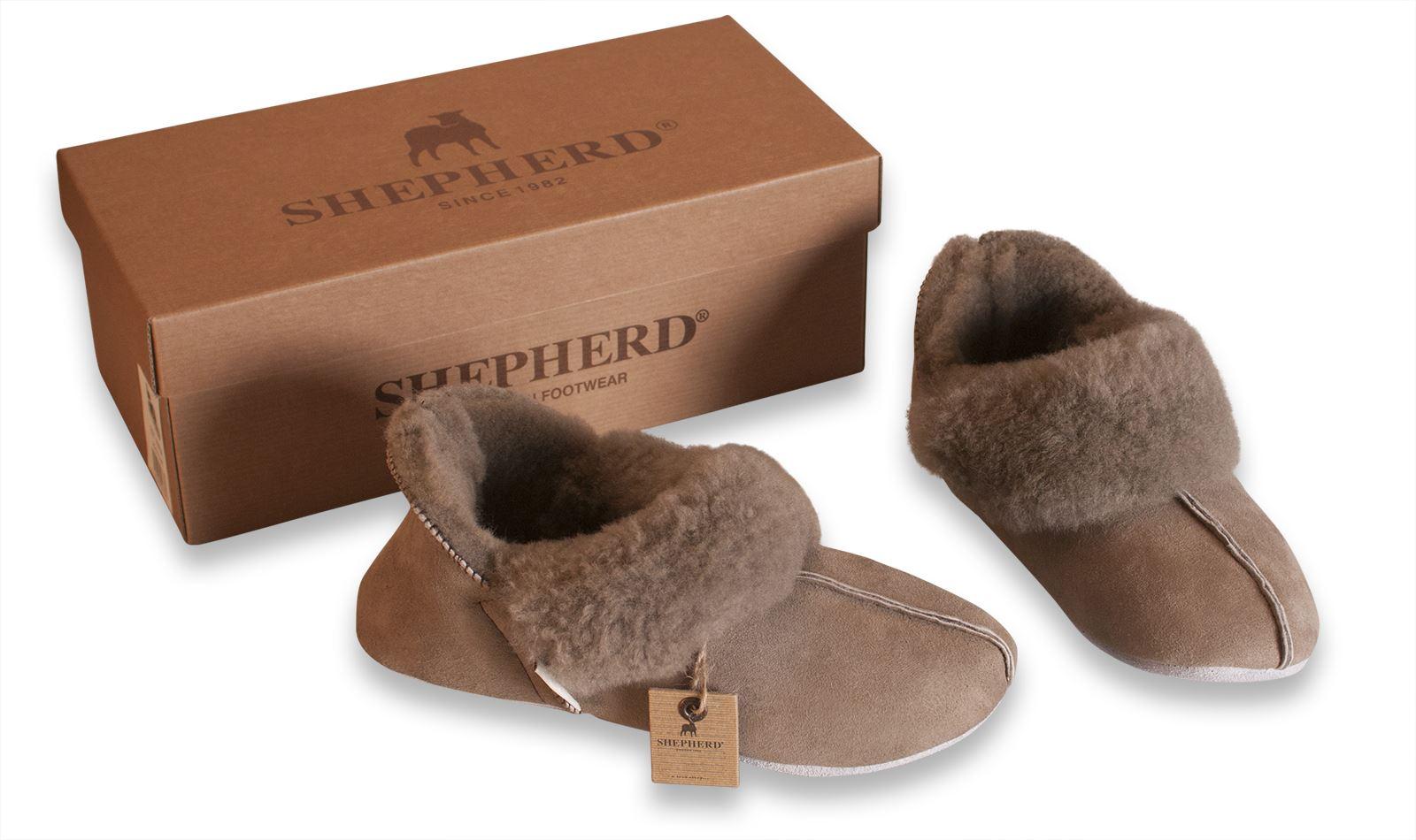chaussons shepherd femme 100 peau de mouton semelle souple daim nina 927 ebay. Black Bedroom Furniture Sets. Home Design Ideas