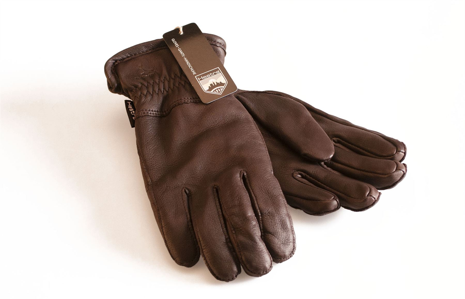 Womens Leather Driving Gloves Fleece Lined - Hestra premium womens deer skin leather gloves fleece