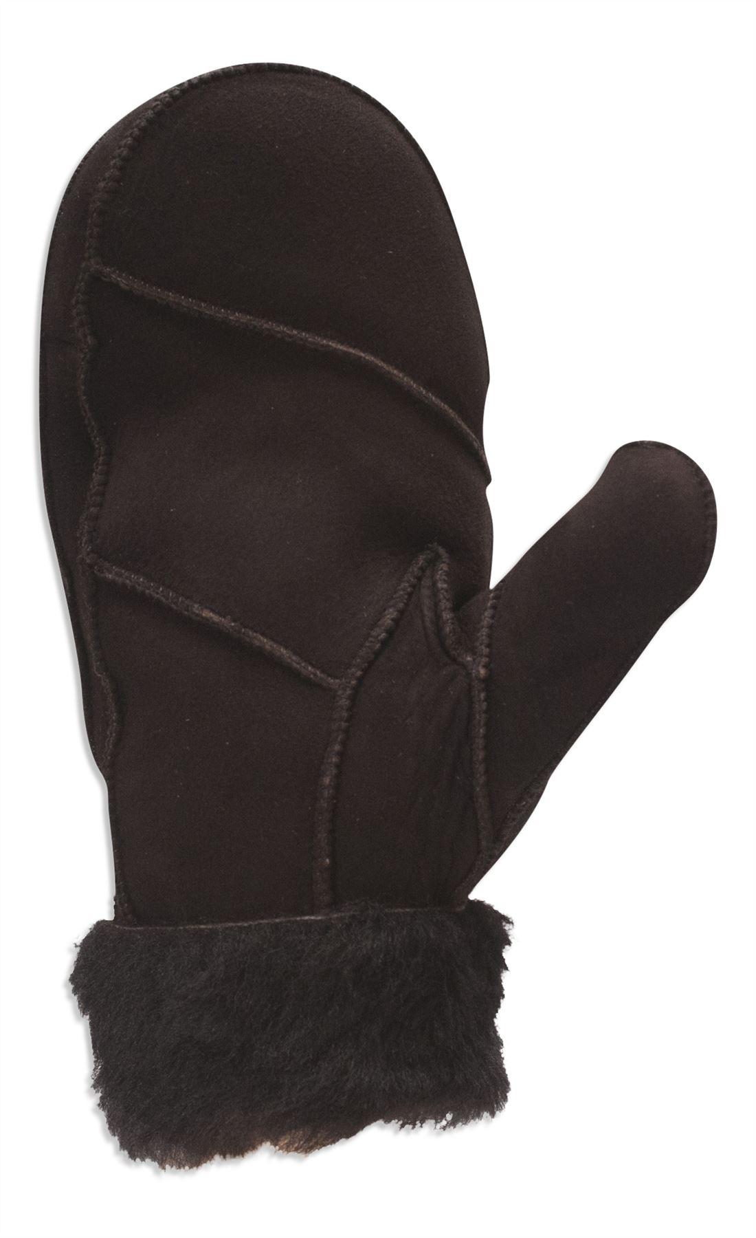 Black gloves fur trim - Nordvek Womens Real Sheepskin Mittens Gloves Fur Trim