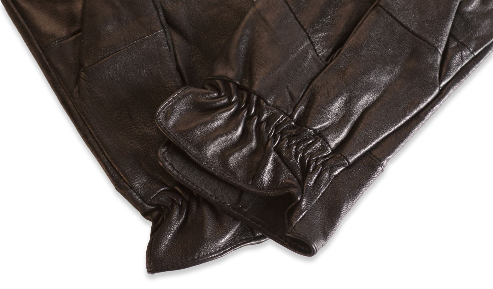 Mens leather gloves with cuff - Clearance Mens Real Leather Glove Elasticated Cuff Winter