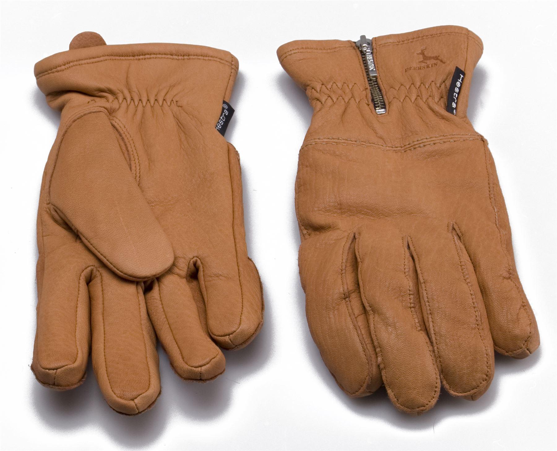 Womens lined leather gloves - Hestra Ladies Real Deerskin Leather Gloves Merino Wool