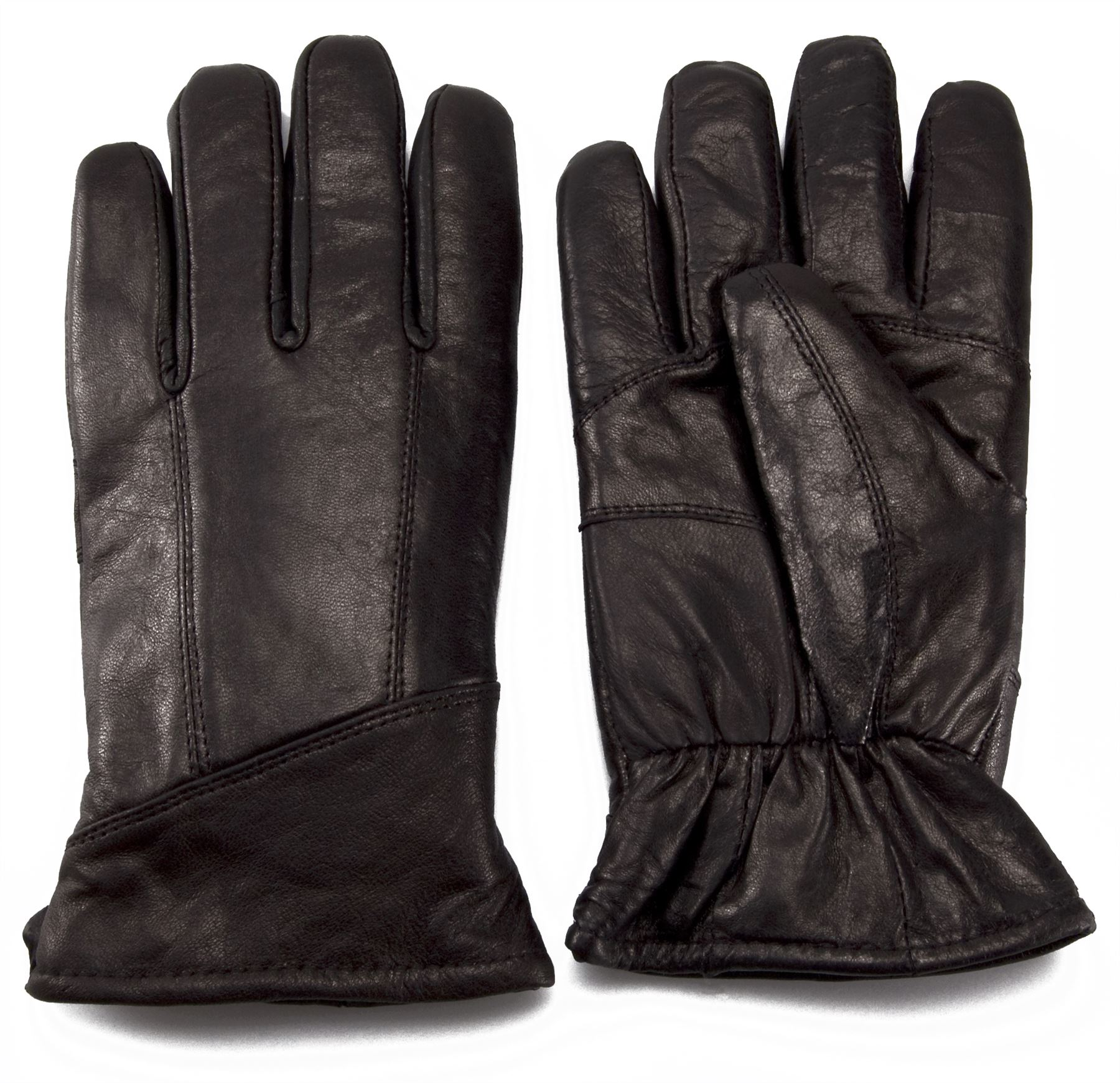 Nordvek-Mens-Sheepskin-Lined-Black-Real-Leather-Gloves-Genuine-302-100