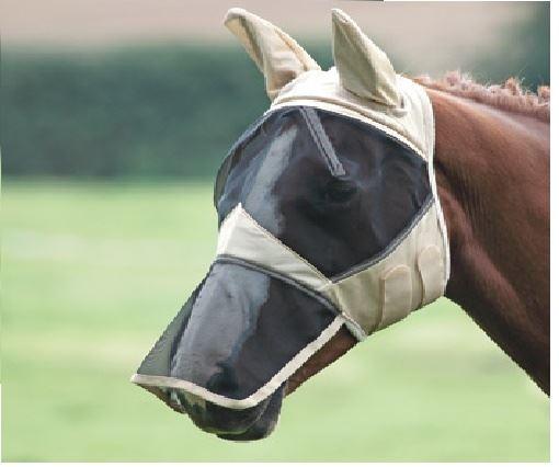 Shires Fine Mesh Fly Mask With Nose Fringe
